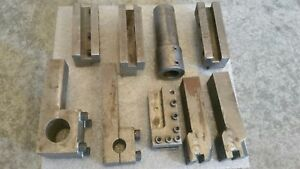 Tool Holders For 12 30 Lathe Boring Bar Sleeve Adapter Lot Of 9