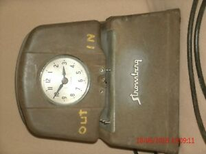 Untested Vintage Gray Stromberg Model 36 Punch Time Clock