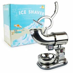 Wyzworks Commercial Ice Shaver Heavy Duty Snow Cone Shaved Icee Maker Machine