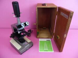 Olympus Microscope Bhc Trinocular Stereo Photomicrography 4 Objective Lenses