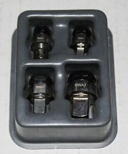 Snap On Ratcheting Wrench Socket Bit Adapter Set Rwa404 Rwa1 Rwa2 Rwa3 Rwa4 2906