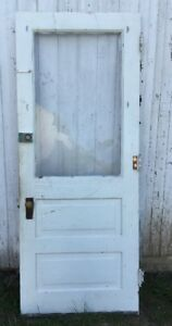 Vintage Solid Wood Door Needs New Glass 31 1 4 X 179 1 8 X 1 3 8 D