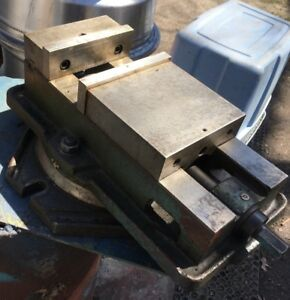 6 Milling Machine Vise W Swivel Base Bridgeport Clausing Jet Grizzly Lagun