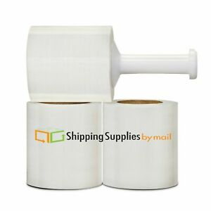Clear Pallet Wrap Stretch Shrink Film 5 x1500 80 Ga 84 Rolls Plastic Handles