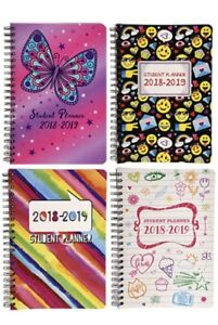 12 Student Planners Academic 2018 2019 Monthly Weekly Spiral Agenda