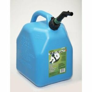 5 gallon Plastic Kerosene Can Fuel Tank Oil Gas Spout Child resistant Emergency