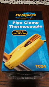 Fieldpiece Tc24 K type Pipe Clamp Thermocouple 3 8 To 1 3 8 Replaces The Atc1