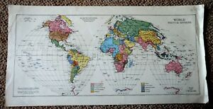 Map World Political Divisions Re Centred Sinusoidal Equal Area Projection 1943