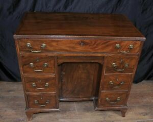 George Iii Mahogany Knee Hole Desk Bureau Pedestal Desks