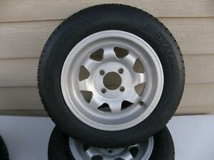 Vintage Set 13x5 5 Gt Mag Wheels 4x98 W Firestone Tires 165 70 R13 F 570 Nice
