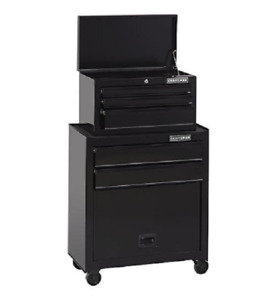 Wide 5 Drawer Tool Chest And Cabinet Black