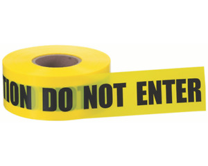 Caution Do Not Enter Printed Barricade Yellow Tape 3 Mil 3 X 1000 4 Rolls