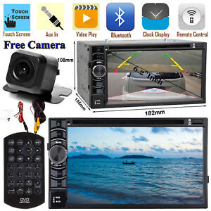 Car Stereo Cd Dvd Player Bluetooth 2 Din Camera For Ford Fusion Mustang Ranger