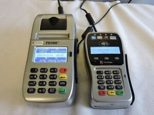 First Data Fd100 ti With Fd 35 Emv Pin Pad Credit Card Terminal Ethernet Dial