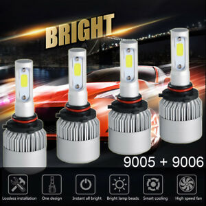 9005 9006 Combo Led Headlight Bulbs For Toyota Corolla 2001 2013 High Low Beam