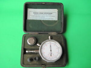 Vintage Hasler Rotaing Speed Indicator Hand Tool W Instructions case Swiss Made