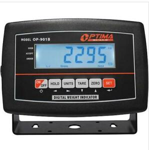 Lcd Indicator Optima Op 901b Display For Floor Scale Rechargeable Bat Power Cord
