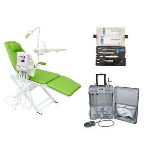 Dental Chair With Turbine Unit Portable Unit With Air Compressor handpiece 4h
