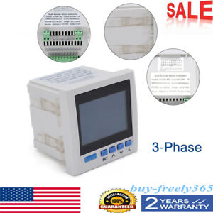 Digital Lcd 50hz Ac 5a Input Kwh Power Energy Meter 3 phase 4 Lines Rs485 Tester