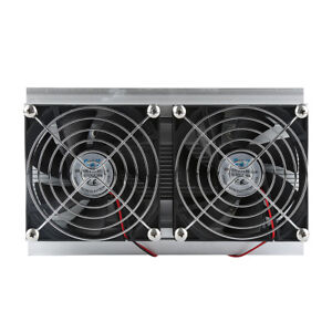 Thermoelectric Peltier Refrigeration Cooling System Kit Cooler Double Fan F1r