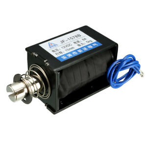Dc 12v 8a 96w 50n 15mm Pull Push Type Linear Motion Solenoid Electromagnet