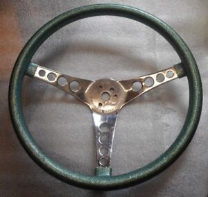 Superior Performance Products The 500 Aqua Metallic Universal Steering Wheel