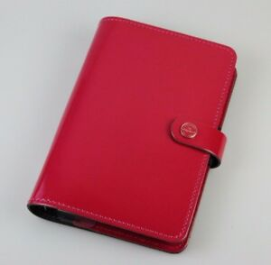Filofax The Original Personal Fuschia 2017 Patent Leather Agenda 022432