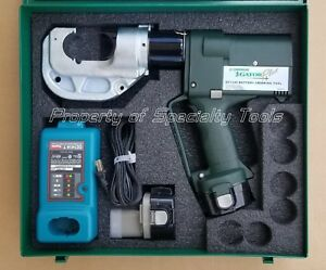 Greenlee Gator Ek1240 Battery Hydraulic Crimper 12 Ton U Die Crimping Tool Demo