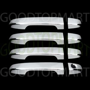 For Toyota Camry 2012 17 Chrome 4 Doors Handles Covers W Out Smart Keyhole