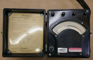 Antique Westinghouse Portable Alternating Current Voltmeter Type Pa 5 Bakelite
