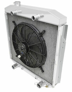 1953 1956 Ford Truck Radiator Aluminum V8 Flathead With 16 Cooling Fan