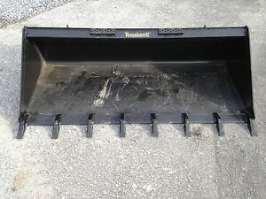 New 72 Skid Steer tractor 6 Tooth Bucket Fits Bobcat Case Cat Etc Teeth