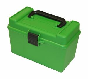 MTM H50-RS Deluxe 50-Round Rifle Ammo Case Box 223 5.56x45 204 Ruger Green
