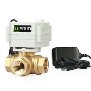 1 2 Motorized Ball Valve Brass Electric Ball Valve 9 36v Dc By U s Solid