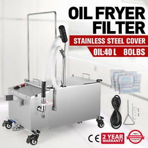 40l Oil Filter Oil Filtration System Shop 10 5 Gallons Restaurant Fryer Filter