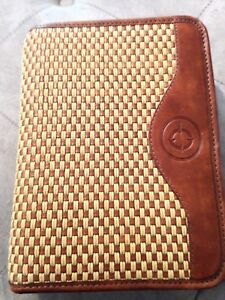 Franklin Covey Brown Rope Full Grain Leather W Said Thread Binder Planner