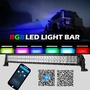 Auxbeam 32 Inch 180w Curved Led Light Bar Multicolor Disco 5d Lens Offroad Suv