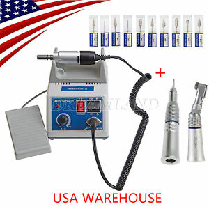 Us 24h N3 Dental Lab Marathon Electric 35k Rpm 2 Handpieces Micro Motor 10 burs