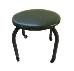 Vintage Industrial Stool With Bassick Casters Metal Shop Garage Mid Century