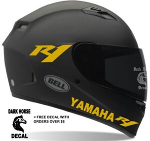Helmet Decals Yamaha R1 Motorcycle Helmet Decals Sticker