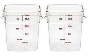 Cambro 18sfscw135 Camsquare Food Storage Containers Set 2 18 quart Polycarbonate