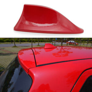 Red Shark Fin 3m Stereo Radio Aerial Signal Antenna For Toyota Honda Ford Nissan