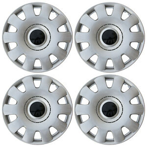 4pc Set Hub Caps Abs Silver 16 Inch Fits Vw Volkswagen Wheel Covers Cap Cover
