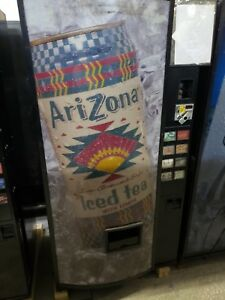 Dixie Narco 501 Soda Drink Machine takes Bill coins can bottle warranty support