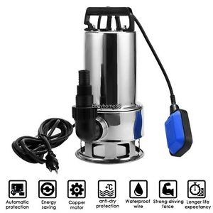 1100w 1 5hp Garden Stainless Steel Submersible Dirty clean Water Pump 16500l h