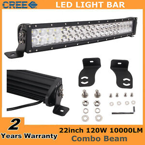 23 120w Curved Cree Led Light Bar Flood Spot Offroad Fog Driving Lamp Jeep Ford
