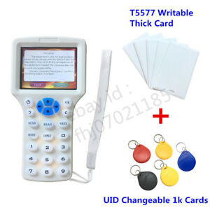 10 Frequency Rfid Reader Writer Duplicator 125khz Programmer H Id Ic Rfid Copier