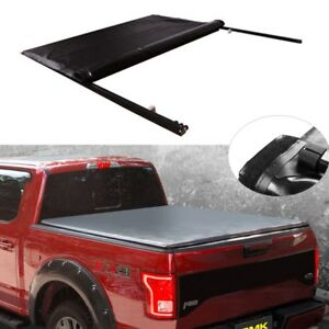 Fit For 2004 14 Ford F 150 With 6 5 78 Bed Lock Soft Roll Up Tonneau Cover