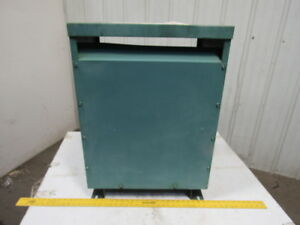 General Electric 9t23b3872 30kva Transformer 3 Ph 480v Pri 208 120v Sec