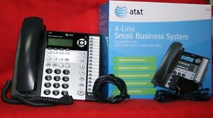 Lot Of 2 Each Phones At t 1080 4 line Small Business Phone System